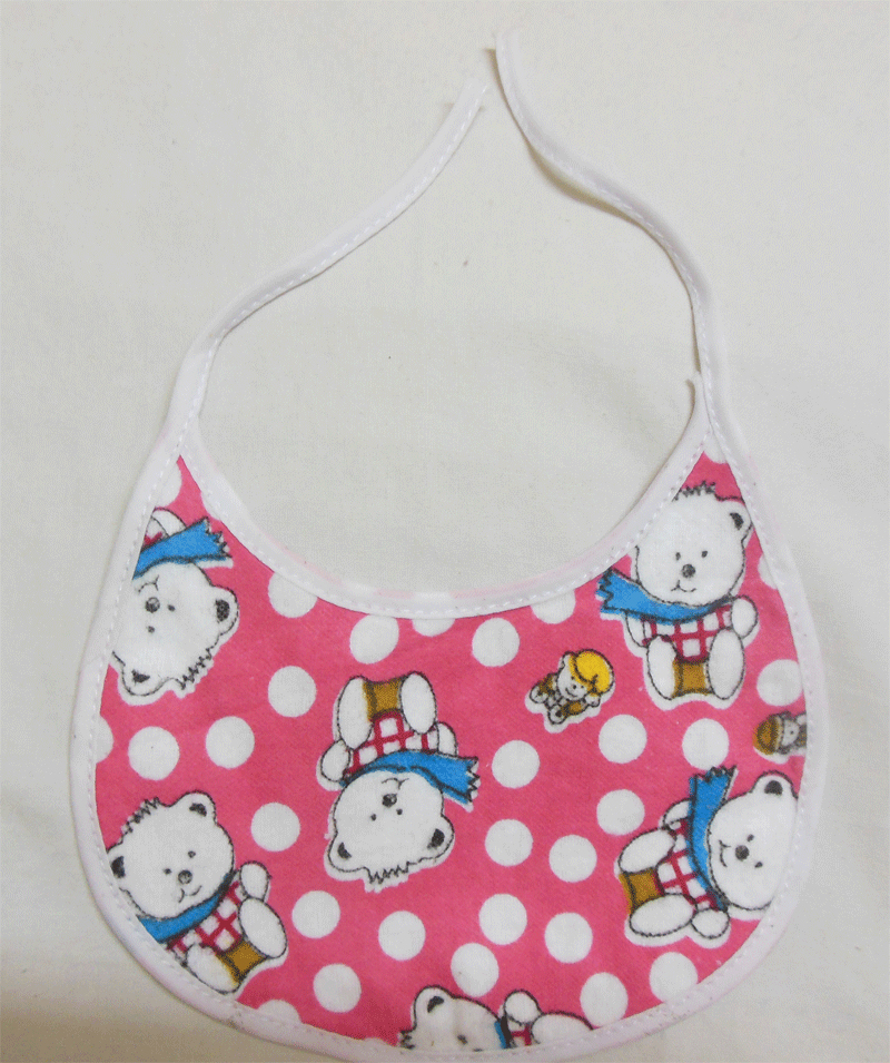 100% Cotton Flannel Baby Bib